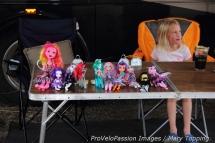 Dolls like bike racing too