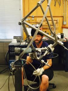 Moots frame maker (photo by Ashley Zoerner)