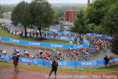 167 junior men started the 2015 worlds road race in Richmond, Virginia