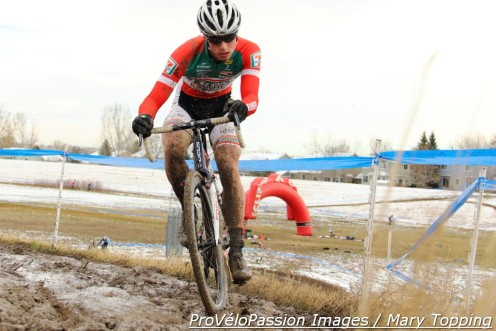Denzel Stephenson rides well in the mud