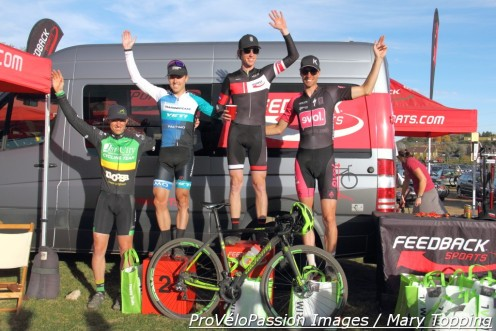 Feedback Cup men's elite race podium