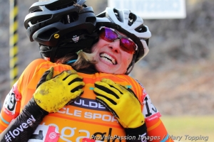 Post-race embrace recognition for a well-fought race