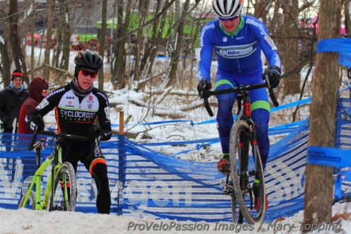 Spencer Petrov (left) and Nathaniel Morse on the last lap.