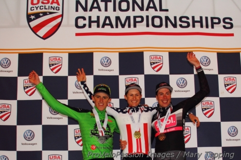 The impromptu 2017 U23 national championship podium